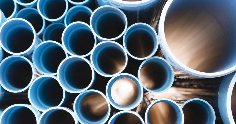 vertical angle of various size and material of pipes