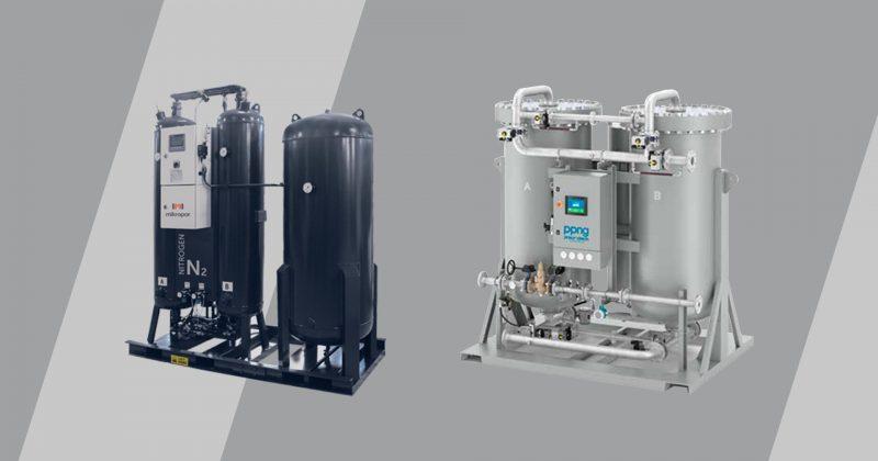 a visual of the 2 most popular nitrogen generator variants