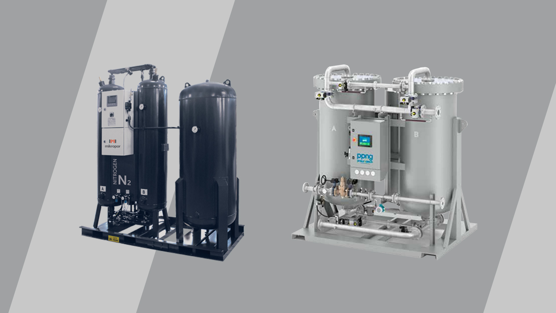 a visual of the 2 most popular nitrogen generator variants